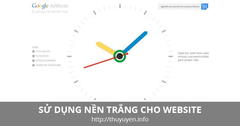 Cách Sử Dụng Nền Trắng Trong Web Design