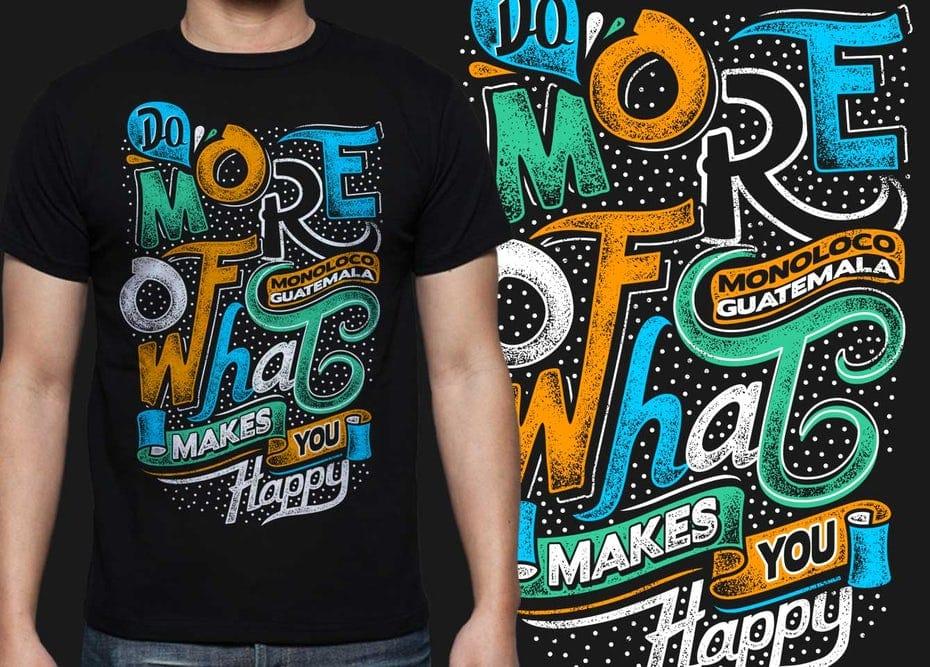 Thiết kế kiểu chữ cho áo phông của diwaz