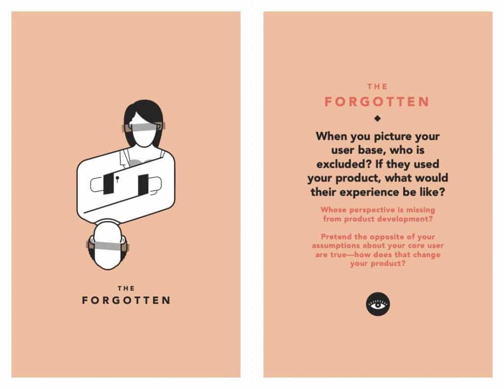 Ai bị quên khỏi thiết kế người dùng của bạn? (Ảnh: Tarot Cards of Tech)